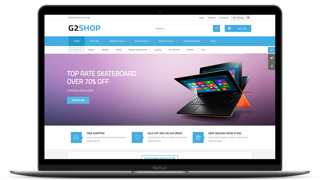 g2shop ecommerce template
