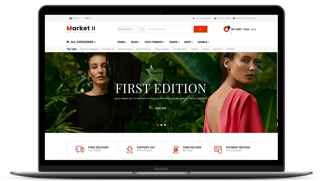 market2 ecommerce template