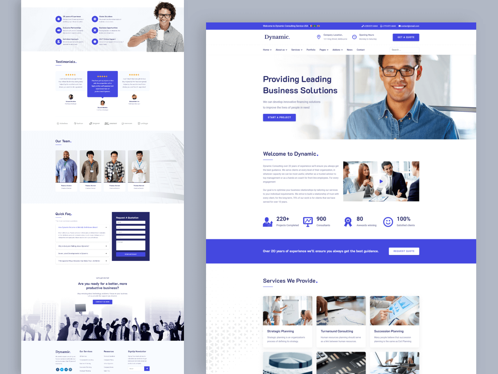Dynamic - Multipurpose Joomla Template