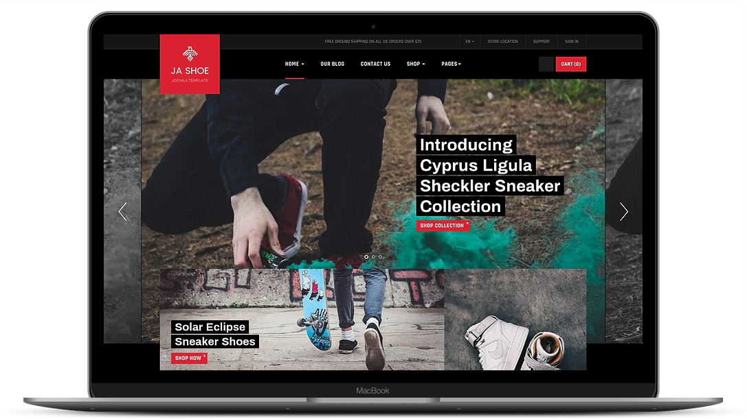 ShoeStore ecommerce template