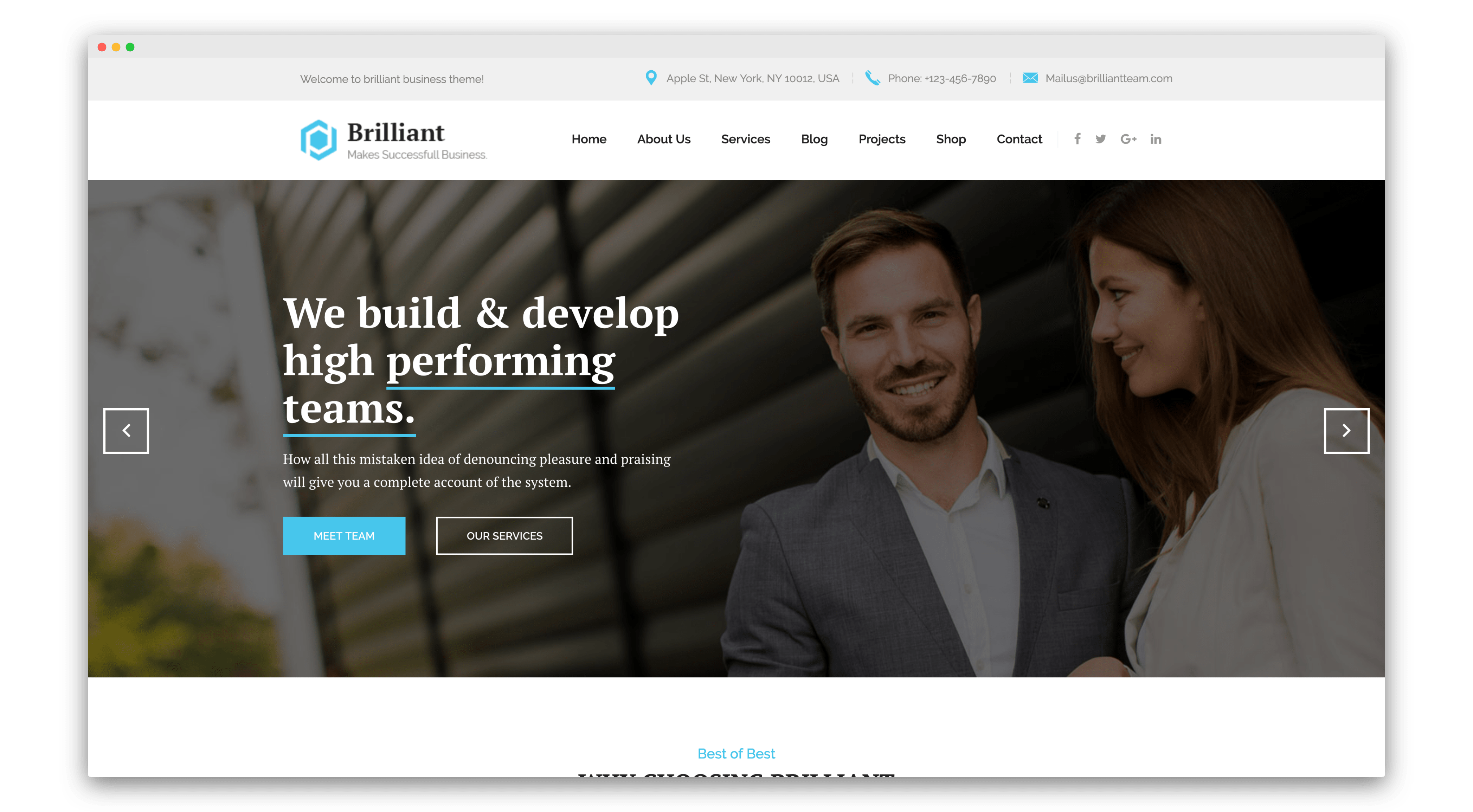 Brilliant joomla template