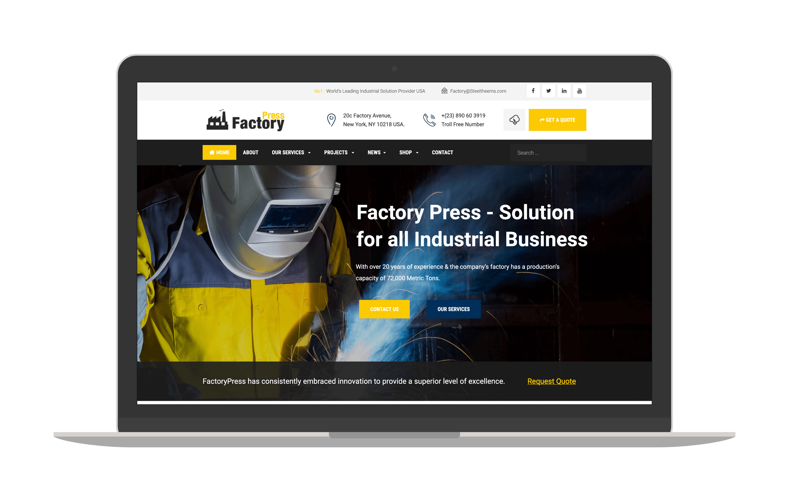 factorypress joomla ecommerce template