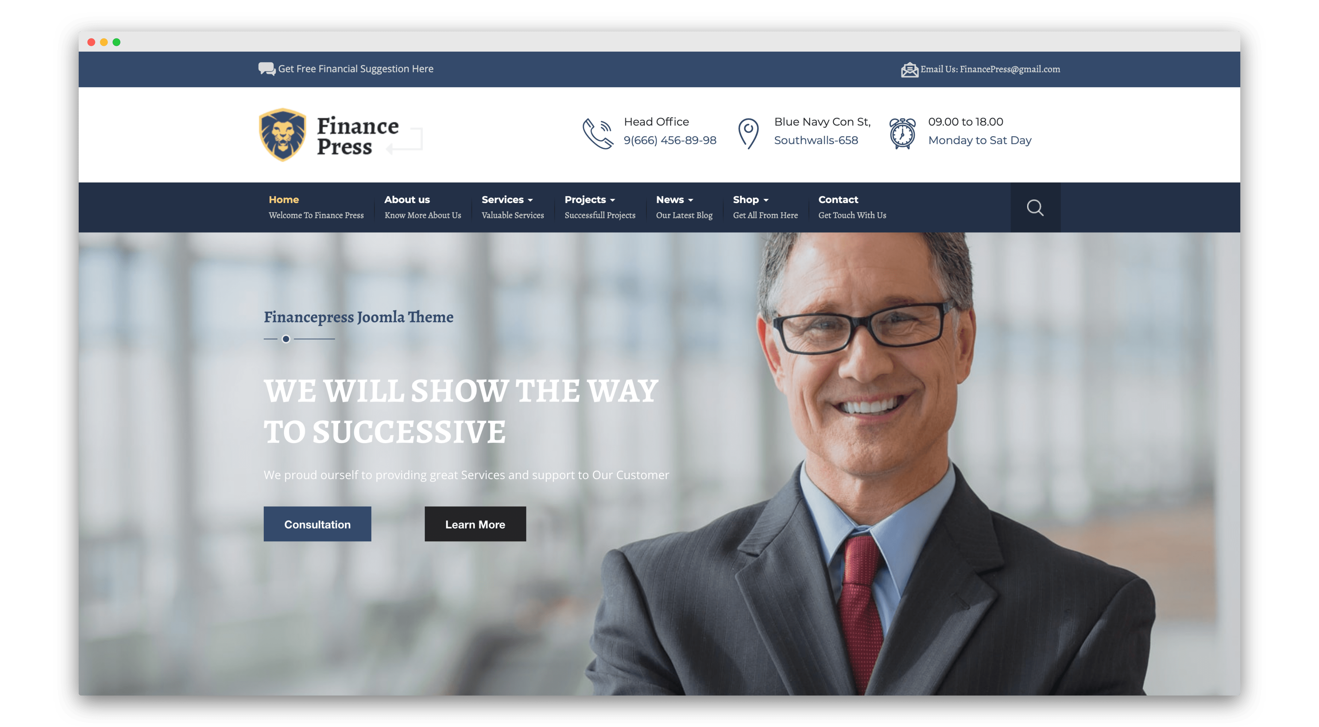 FinancePress joomla template