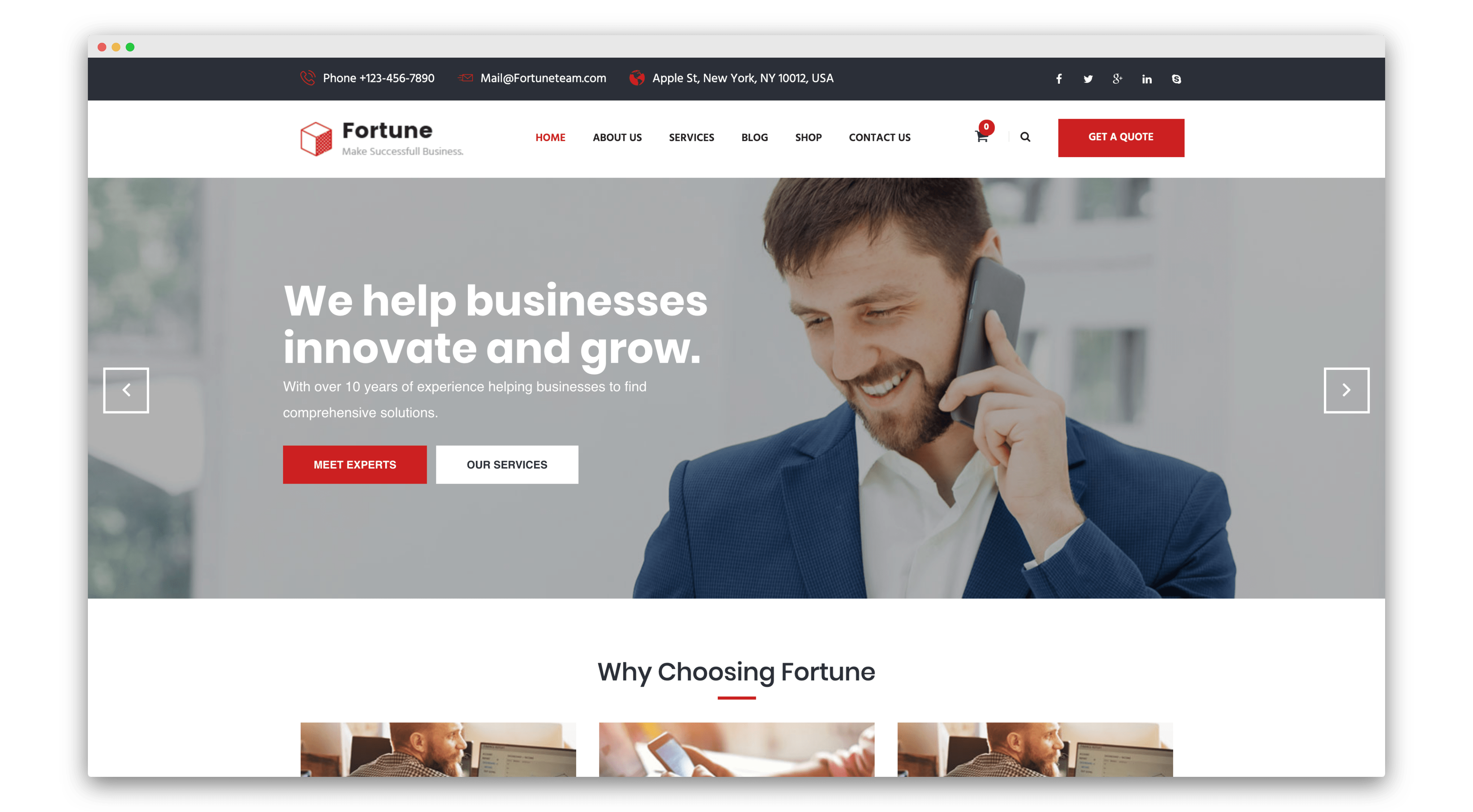 fortune joomla template