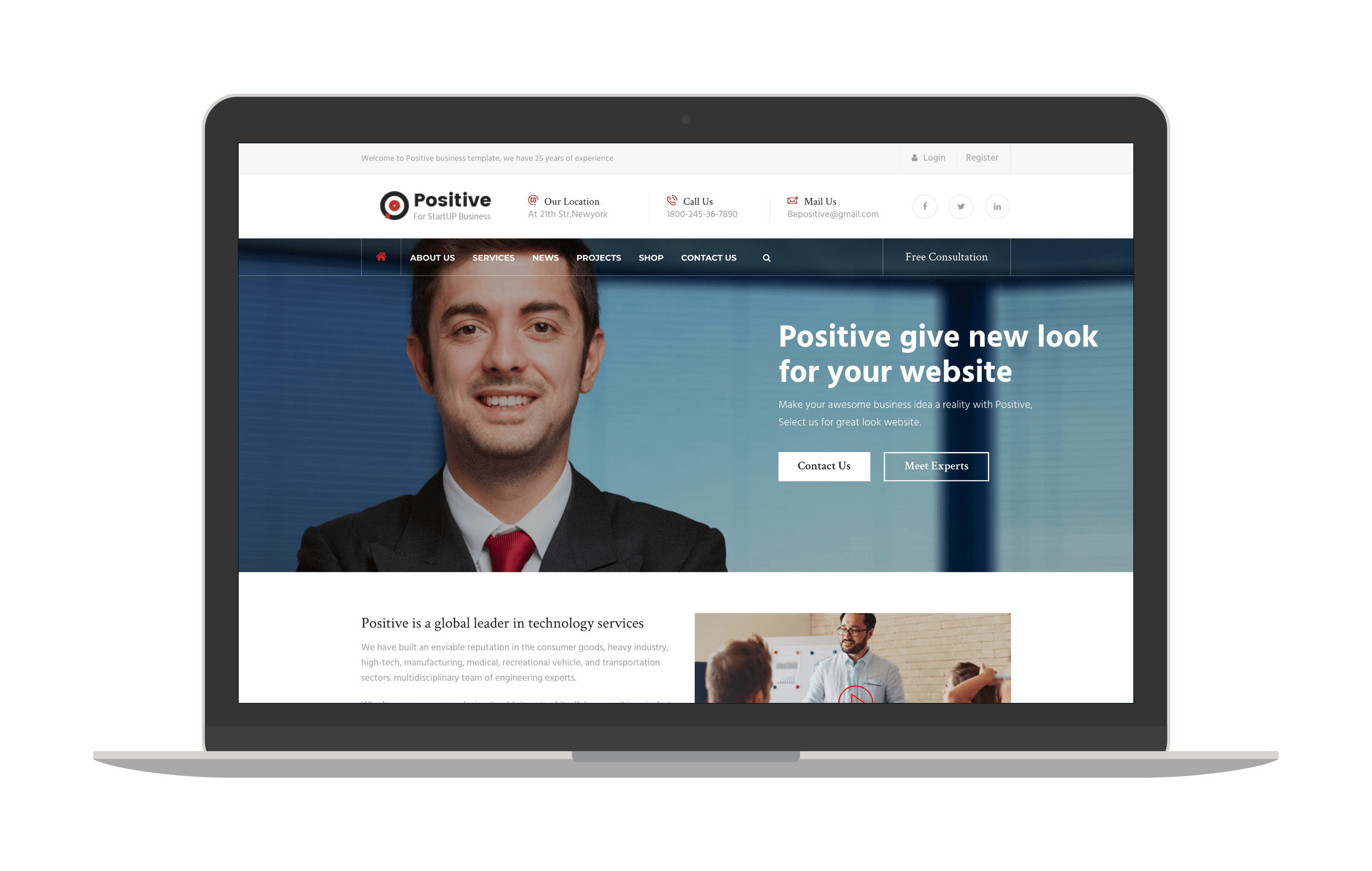 positive joomla template