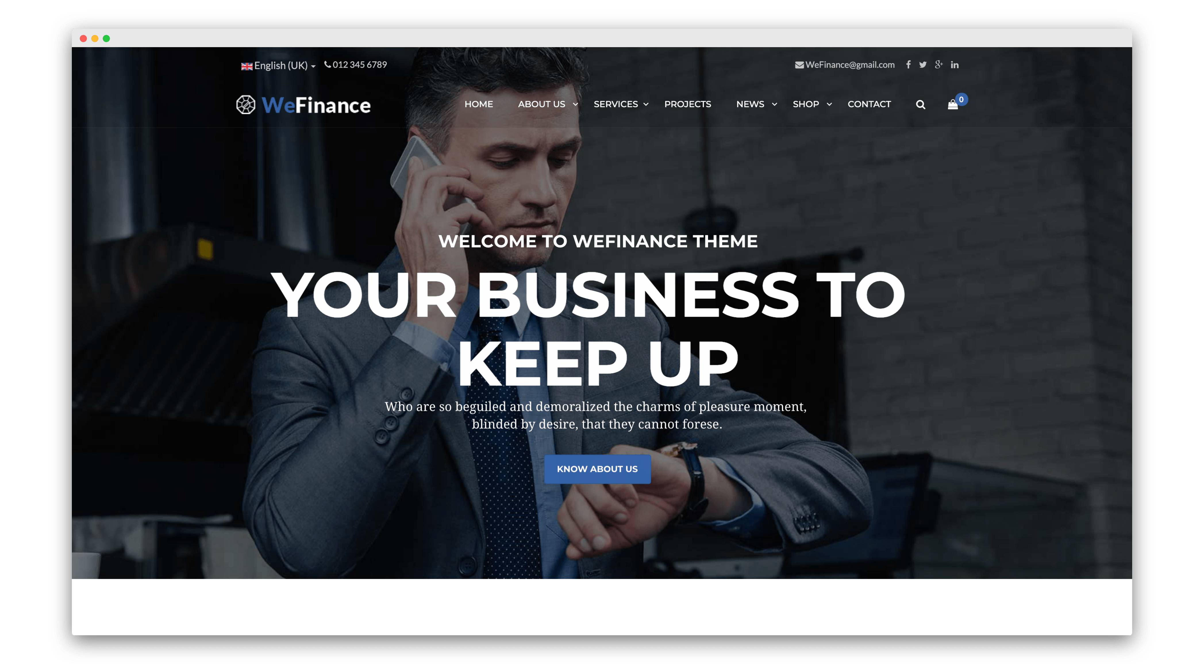 We finance joomla template