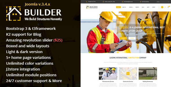 builder preview - Ultron - Responsive Multipurpose Joomla Template