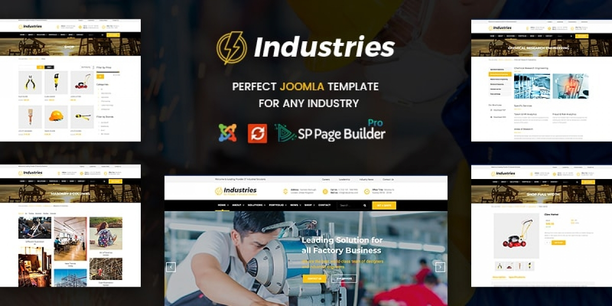Introducing Industries - The Best Joomla Template For Factory & Industrial Business