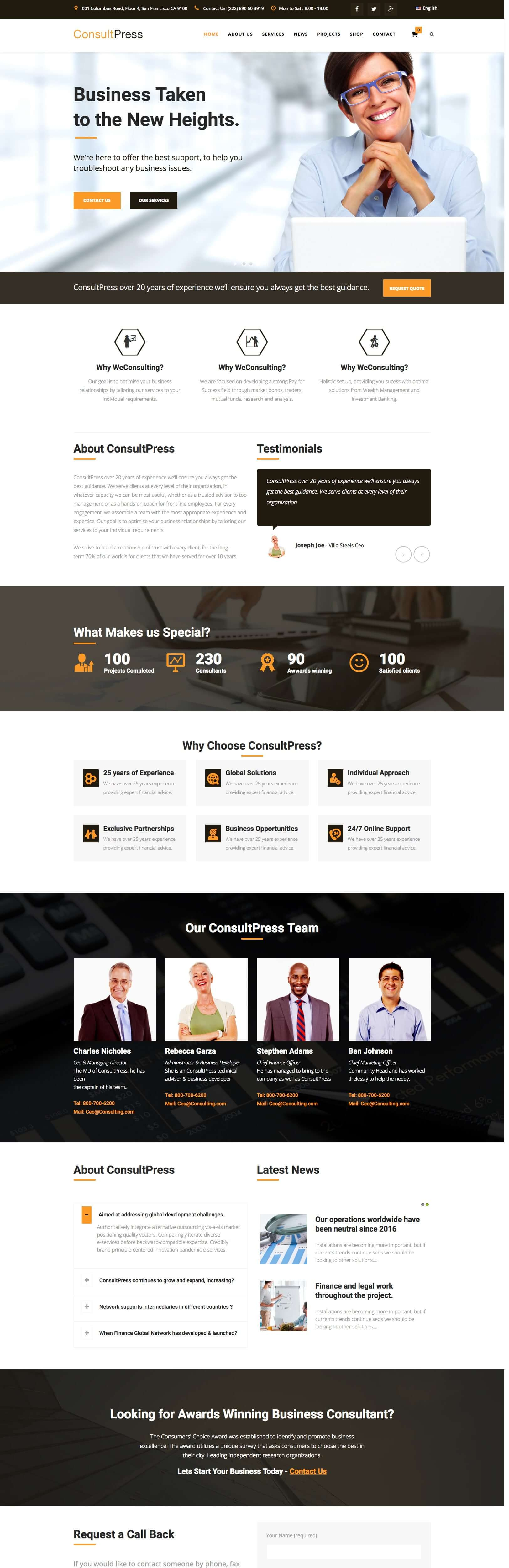 consultpress - Finance & Consulting Business Joomla Template