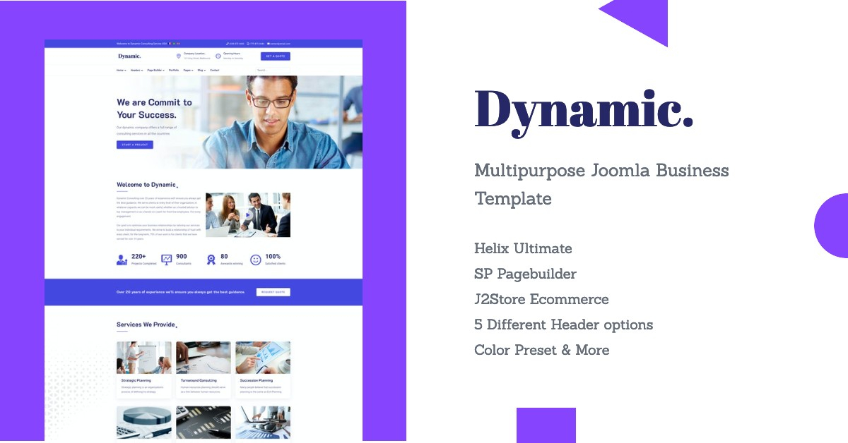 Introducing Dynamic: Responsive Multipurpose Business Joomla Template
