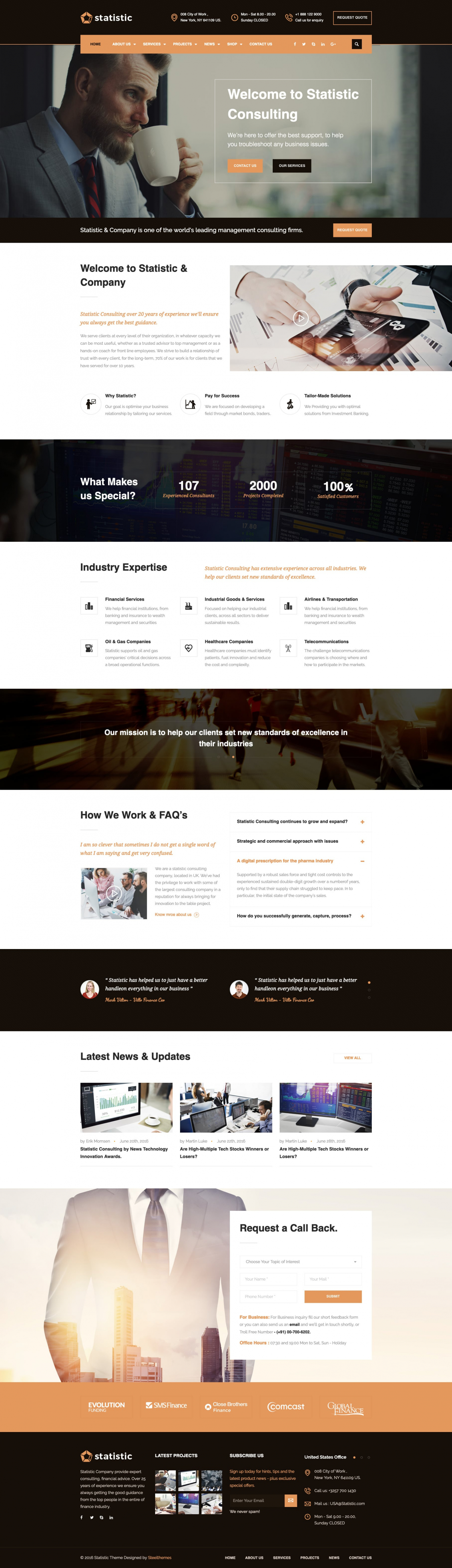 Statistic - Business Consulting & Professional Services Joomla Theme