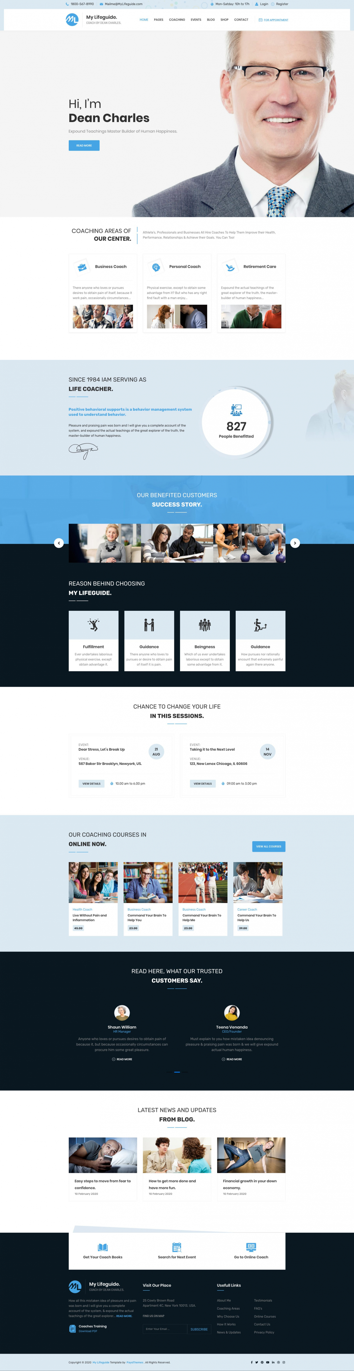 LifeGuide - Personal and Life Coach Joomla Template