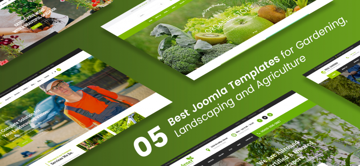 5 Best Joomla Templates for Landscapers & Gardeners