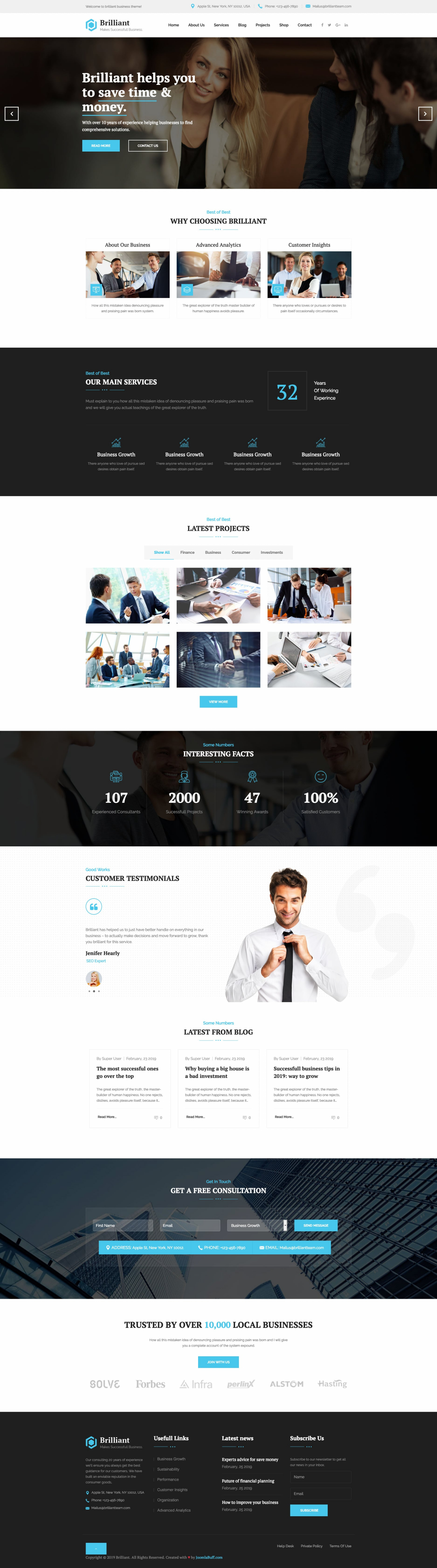 Brilliant - Finance & Business Consulting Joomla Template