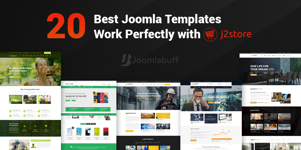 20 Best Joomla Templates That Works Perfectly with J2Store