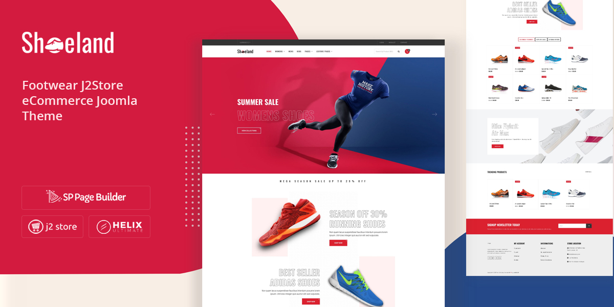Shoeland - Best Responsive Footwear eCommerce Joomla Template