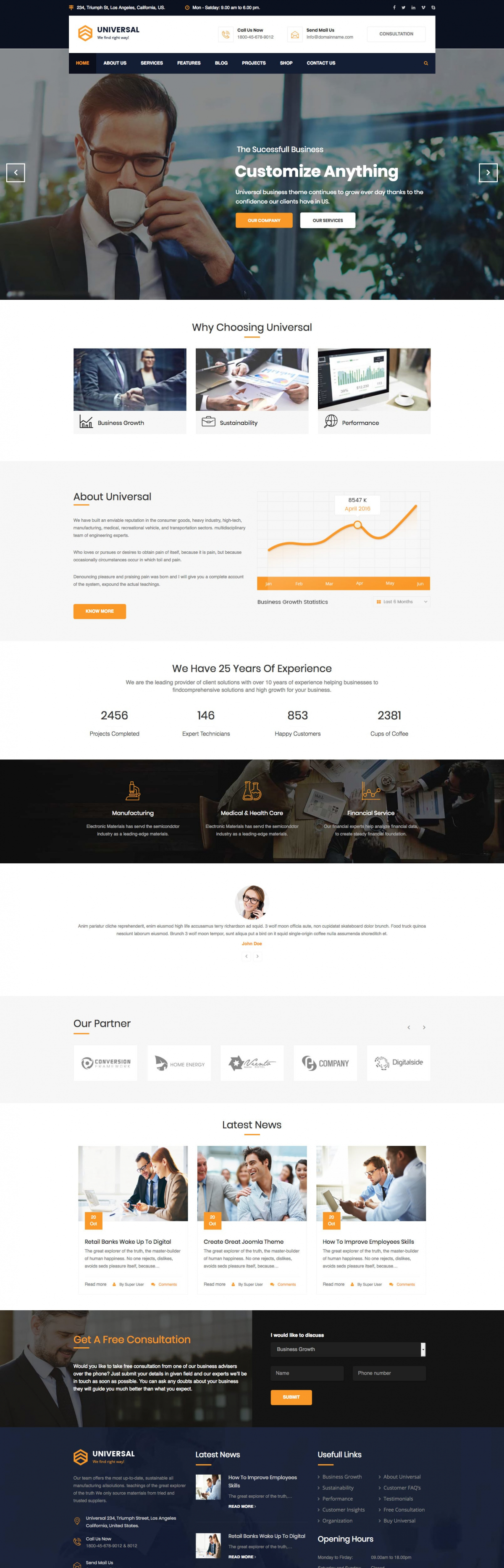 Universal - Finance & Consulting Business Joomla Template