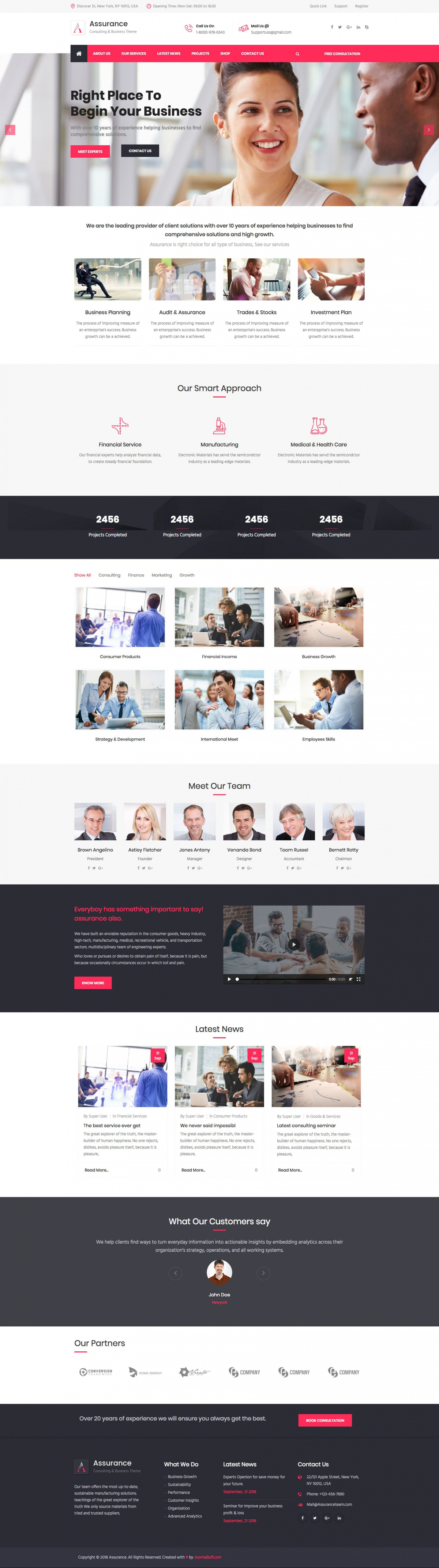 Assurance - Finance & Business Consulting Joomla Template