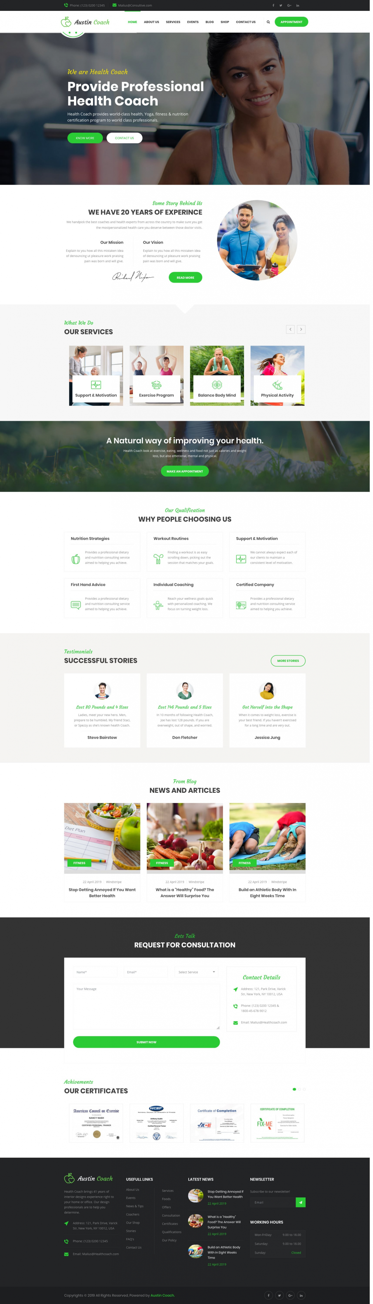Austincoach - Health, Fitness, Personal Life Coaching Joomla Template