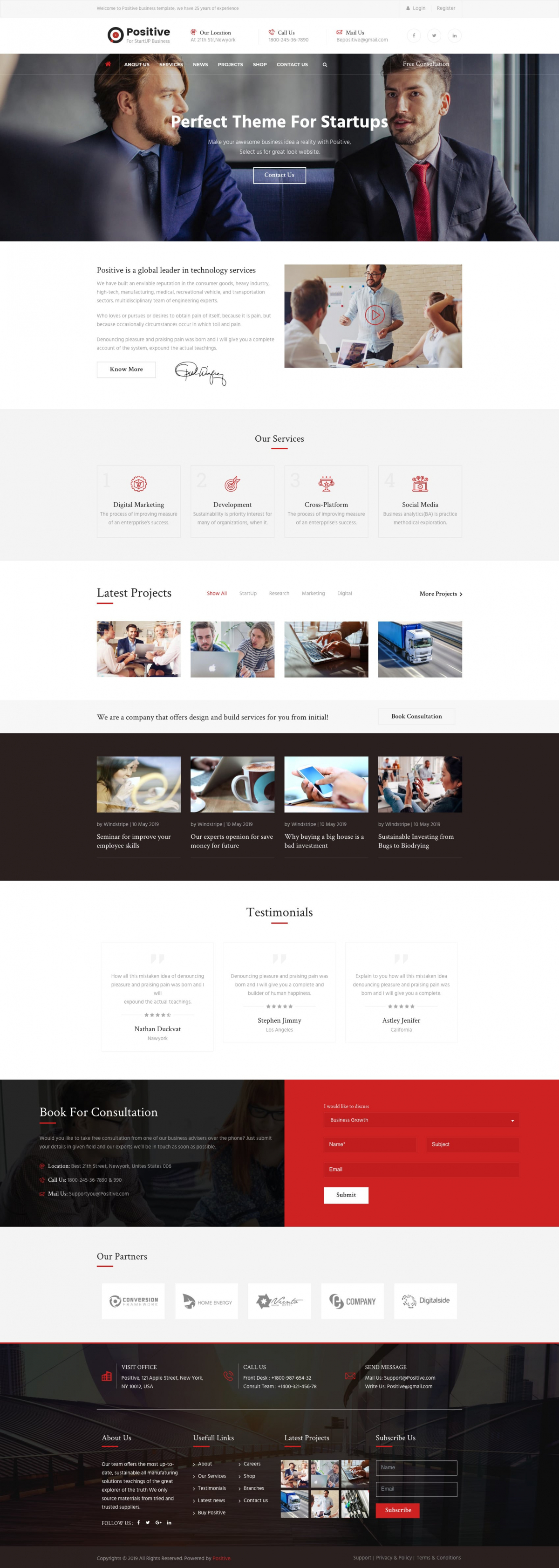 Positive - Startup Business & Consulting Services Joomla Template