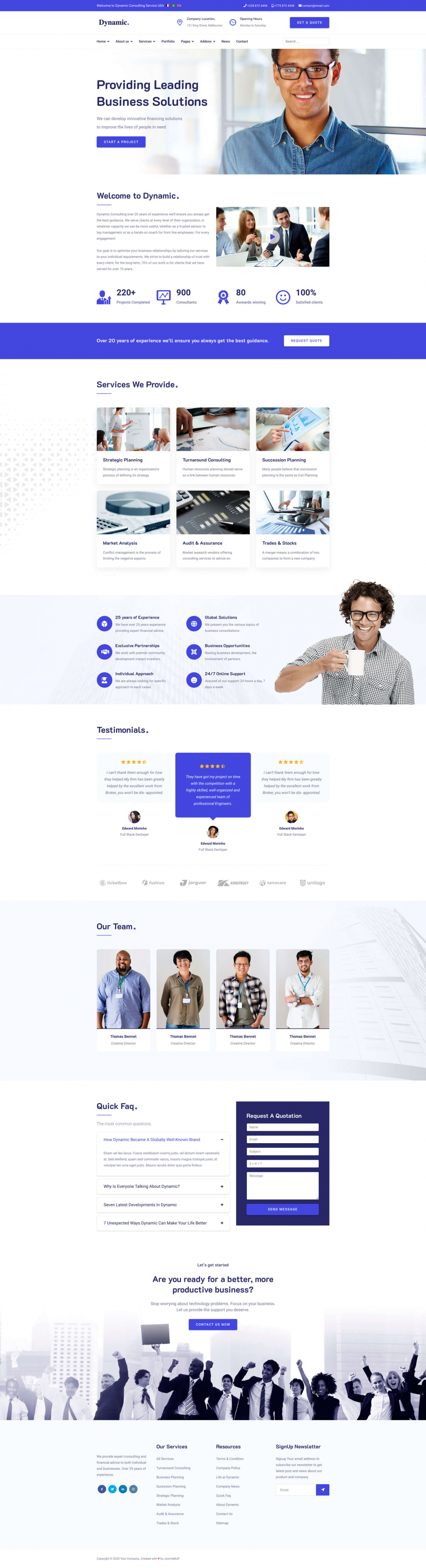 Dynamic - Responsive Multi Purpose Joomla Template