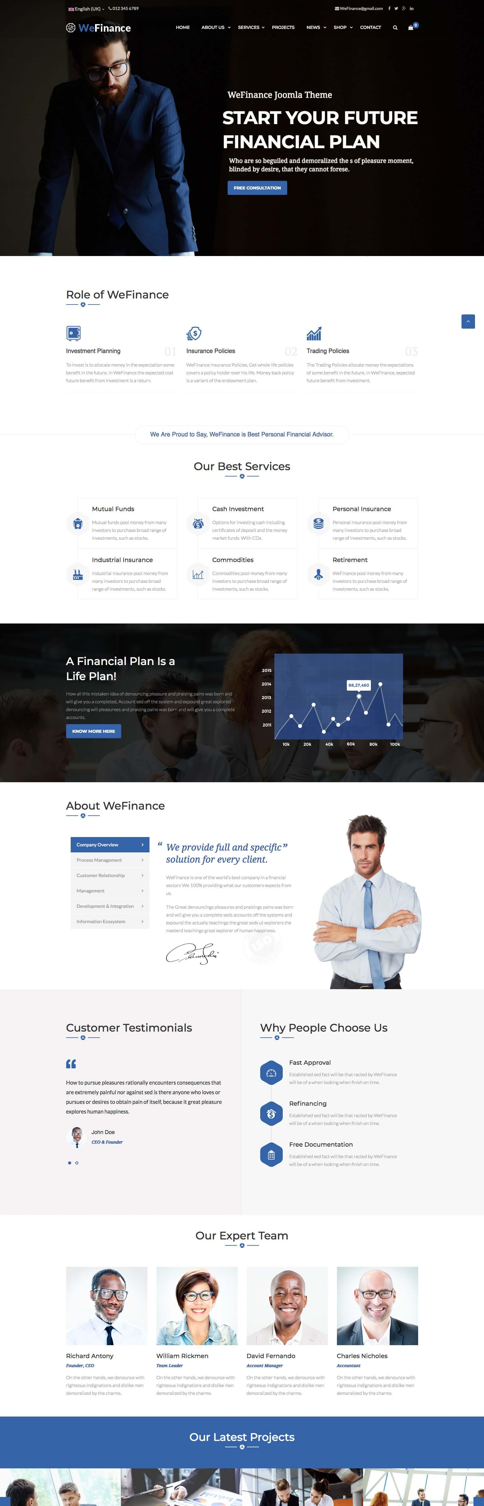 Wefinance - Best Finance & consulting business Joomla template