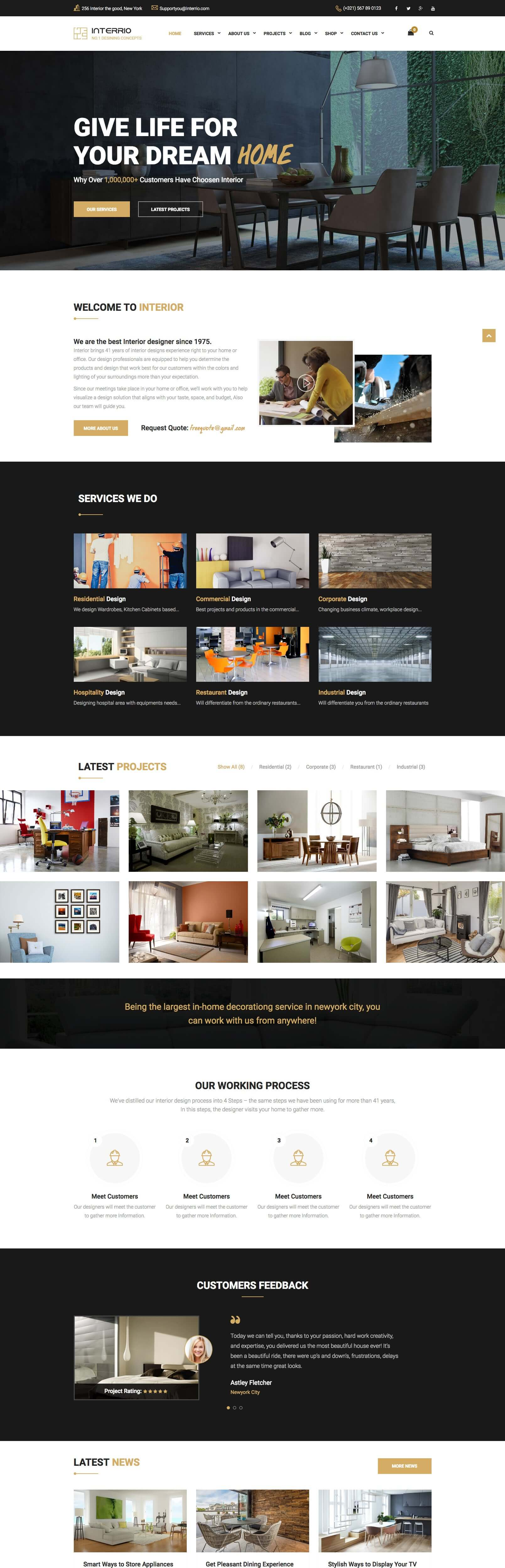 Interrio - Architecture & Interior Design Joomla Template